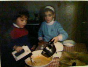 Il Pastry Chef Fred da bambino, alle prese con i primi dolci