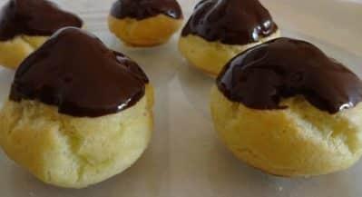 Bignè Senza Glutine ricoperti di cioccolato