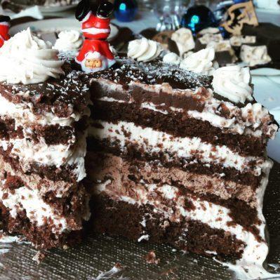 immagine della stratificazione della torta alla nutella di biancolievito