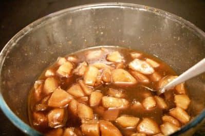 immagione composta di pere per crostata pere e cioccolato su biancolievito