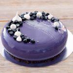 torta glassata con effetto spider