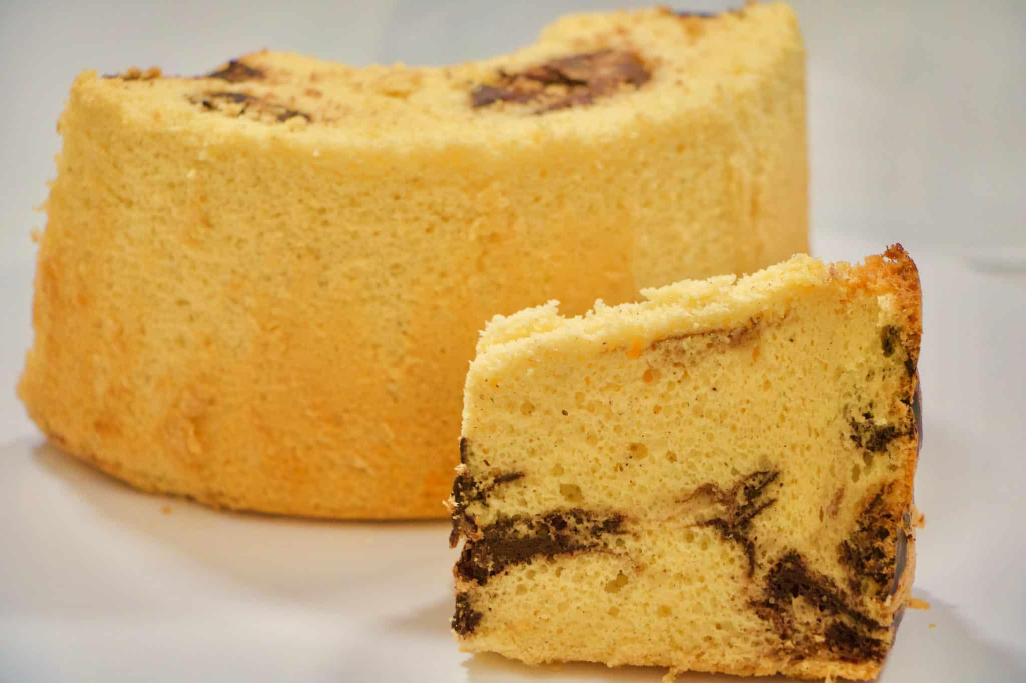 immagine della chiffon cake senza glutine su biancolievito