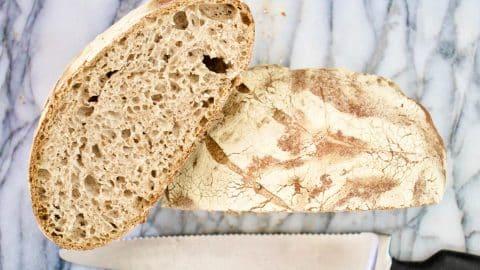 immagine del pane veloce senza impasto di biancolievito