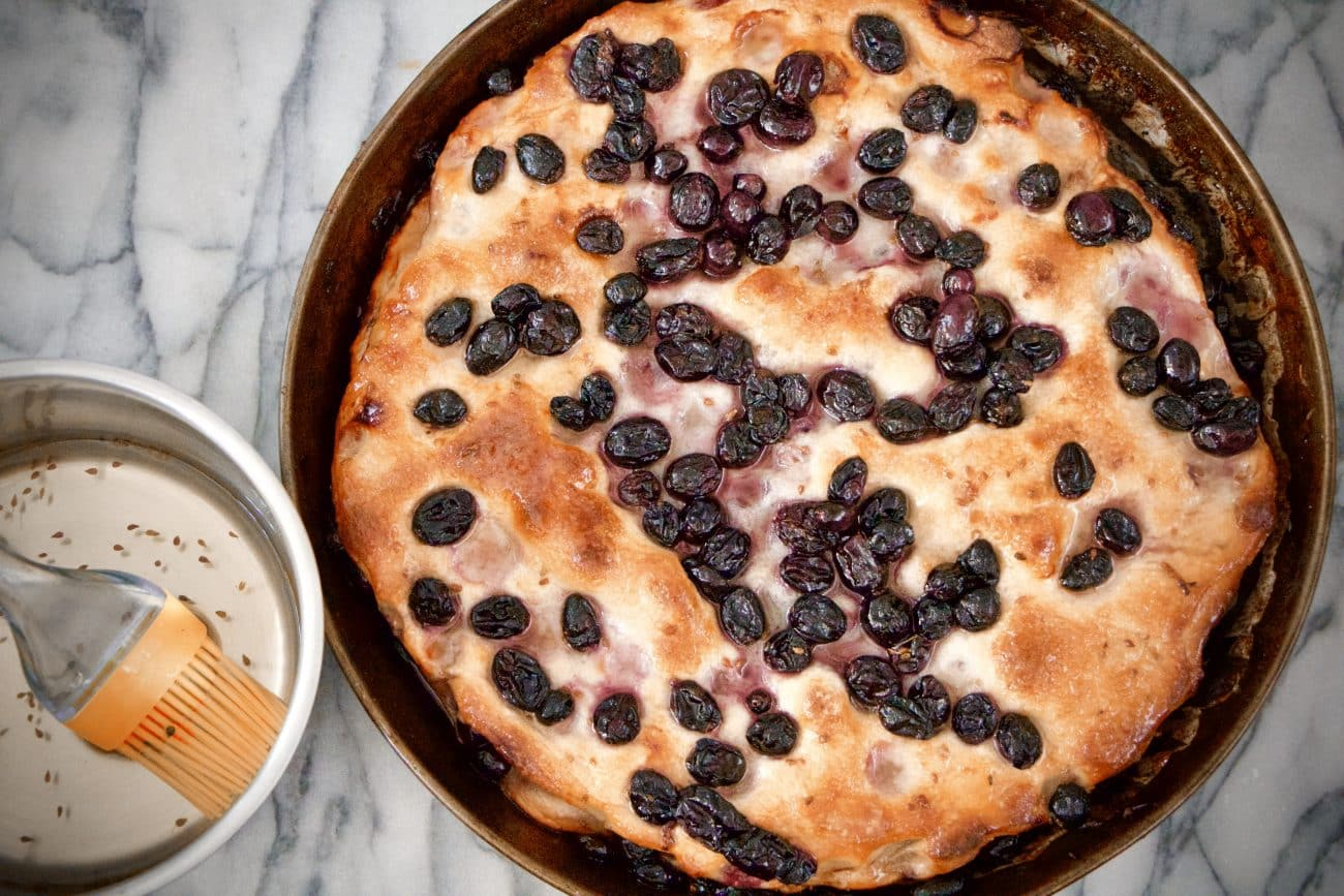 immagine della schiacciata fiorentina con l'uva su biancolievito